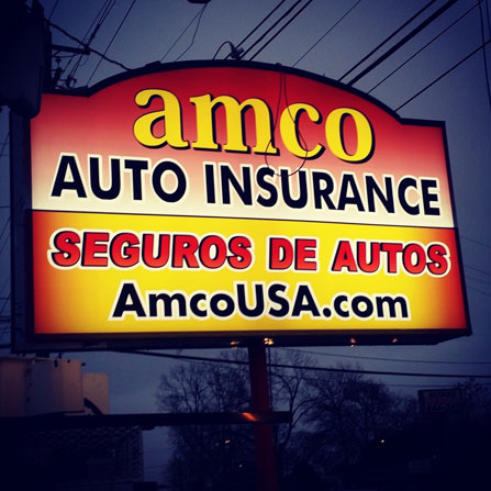 AMCO Insurance Custom Cabinet Sign Sign Austin, Texas
