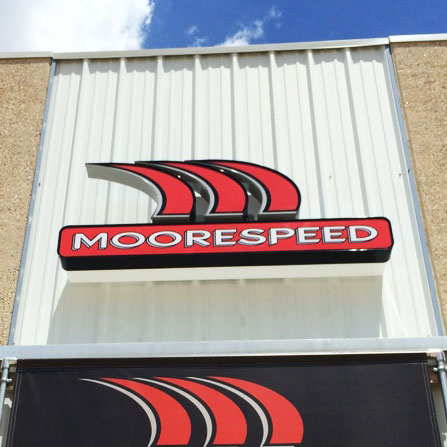 Moorespeed Channel Letter Sign Austin, Texas