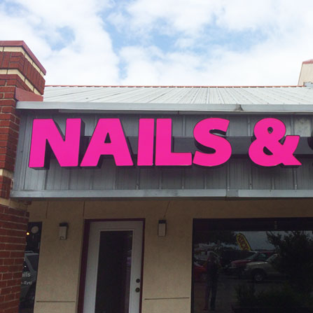 Nails & Spa Channel Letter Sign Austin, Texas