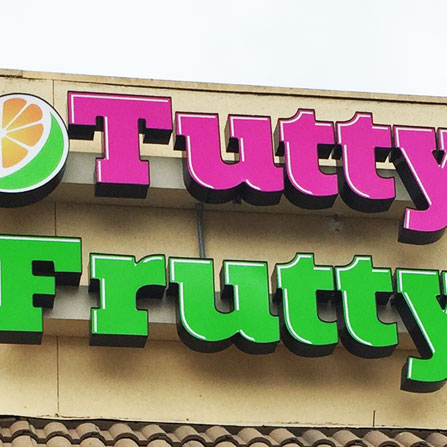 Tutty Frutty Front Lit Channel Letter Sign Austin, Texas