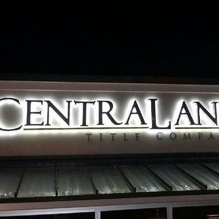 Central Land Title Co. Reverse Channel Letter Sign Temple, Texas